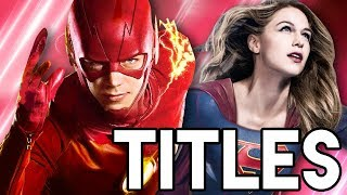 The Flash Season 4 Four Way Crossover Titles Breakdown