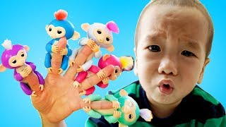 Five Little Babies Jumping on the Bed | Baby nursery rhymes songs for children