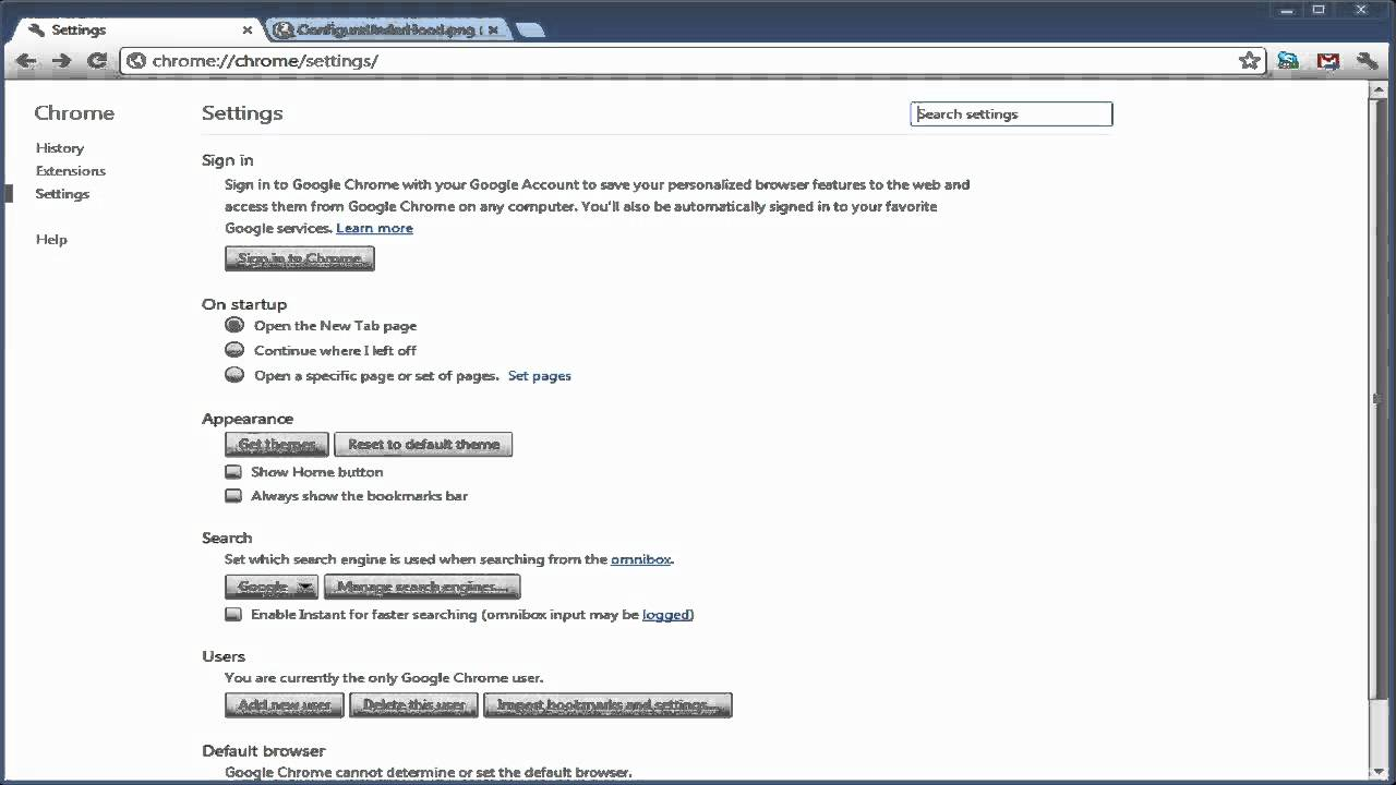 Tutorial - Chrome Under the Hood Settings Gone ~ How to change your  downloads folder NEW 2012