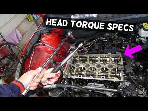 HEAD GASKET TORQUE SPECS SEQUENCE ECOTEC 1.8 OPEL ASTRA ZAFIRA INSIGNIA MOKKA
