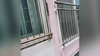 아파트 빗물누수 베란다 창틀 실리콘 코킹 .
