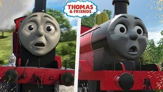 James' CRASH! | A Shed for Edward | Trainz Scene Remake Comparison | Thomas and Friends Season 21