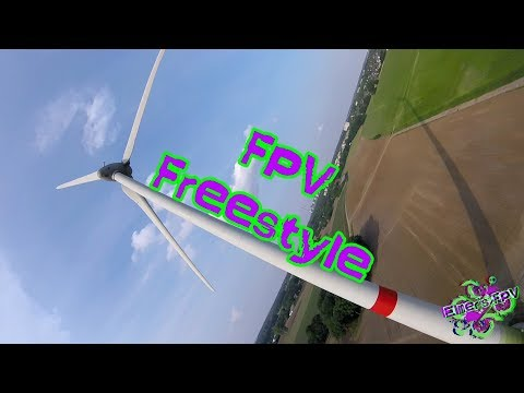 FPV Drone Freestyle - Flying At Windmills  // HD