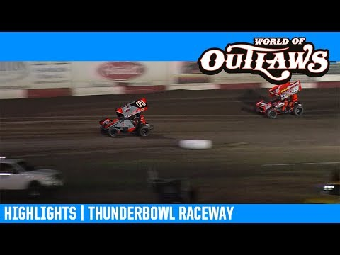 World of Outlaws NOS Energy Drink Sprint Cars Thunderbowl Raceway March 9, 2019 | HIGHLIGHTS
