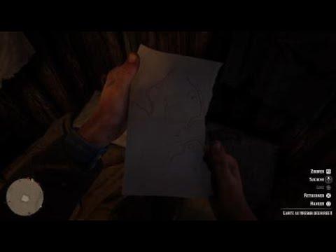 carte tresor red dead redemption 2 Red Dead Redemption 2 trouvé carte au trésor déchirée #1   YouTube