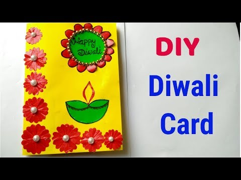 Diwali card/ Handmade easy Diwali card Tutorial/ Diwali Greeting card.