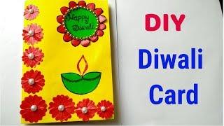 Diwali card/ Handmade easy Diwali card Tutorial/ Diwali Greeting card.