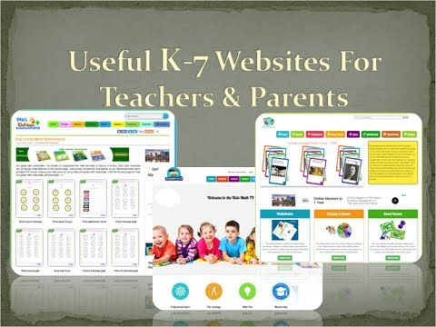 Useful Education Websites For K-7 kids, Parents & Teacher Resources