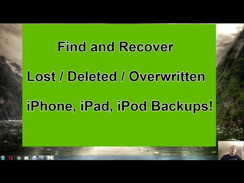 Recover Deleted or Lost iPhone Backup - iTunes Recovery