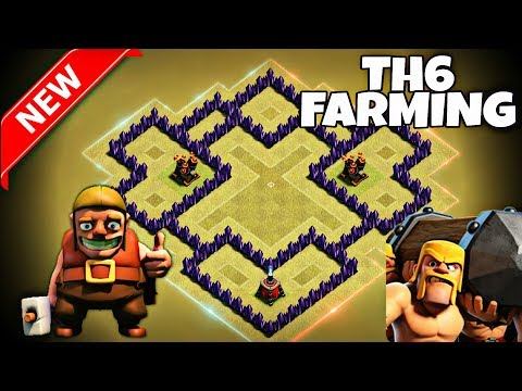 NEW TOWN HALL 6 FARMING BASE LAYOUT | Clash Of Clans Th6 Farming Base 2017