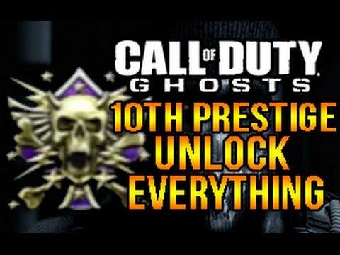 call of duty ghosts 10th prestige glitch unlock