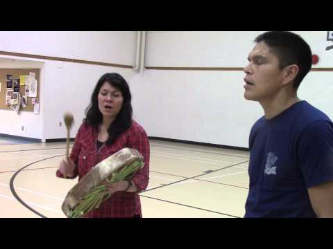 Singing Haida song