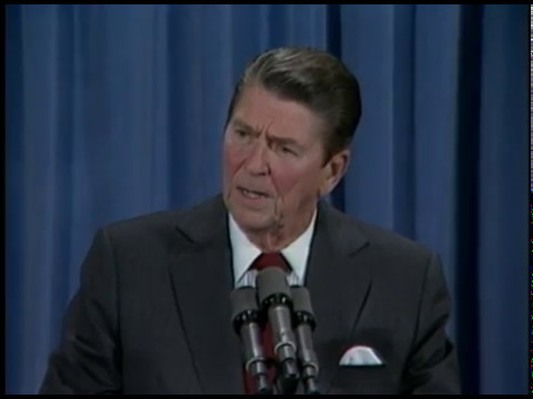 President Reagan's 13th Press Conference in the East Room on September 28, 1982