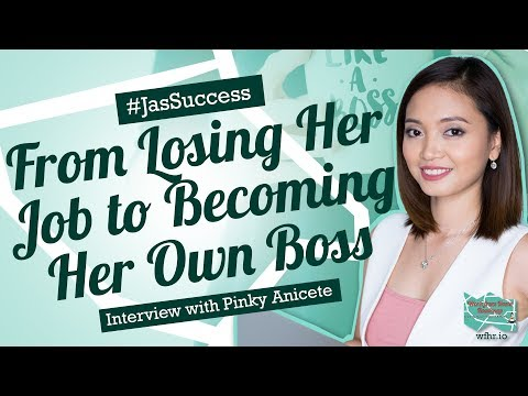 🔴 From Losing her Job to Becoming her own Boss | PInky Anicete | #JasSuccess 036