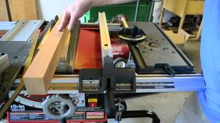 Luthier Tool Review: Sliding Craftsman Table Saw For Cutting Custom Necks W/ Table Router