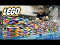 I MADE AN ENTIRE BOAT OUT OF LEGO!! (LEGO WATER EXPERIMENT)