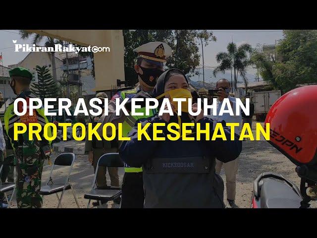 Pelaksanaan Operasi Kepatuhan Protokol Kesehatan di Kabupaten Bandung