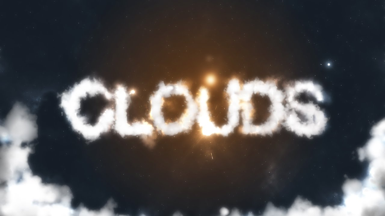 Photoshop Clouds Text Effect Template PSD (Free Download)