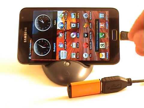 Samsung Galaxy Note: USB On-The-Go Cable preparation (USB Host)