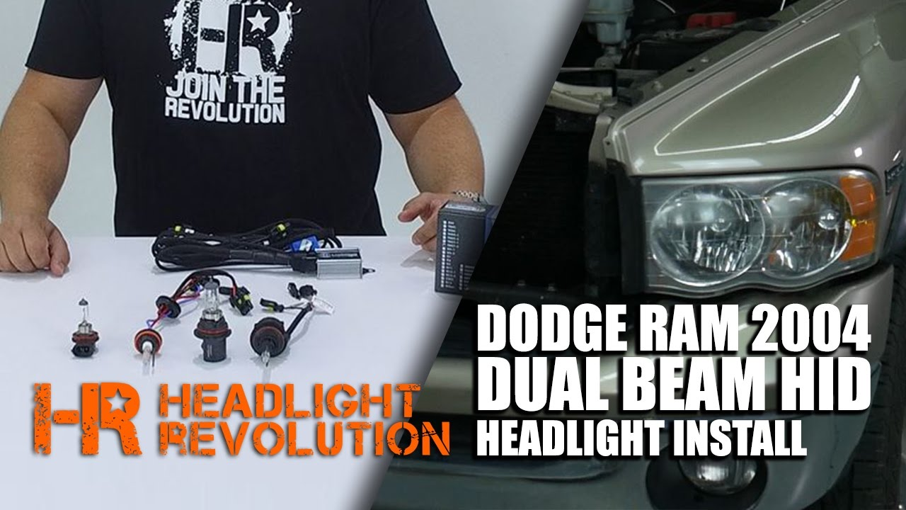 2004       Dodge       RAM    Dual Beam HID Install      Headlight    Revolution  YouTube