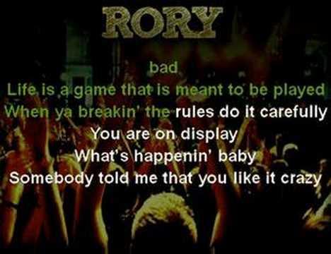 Rory Music  - Crazy Karaoke Video - www.RoryMusic.com