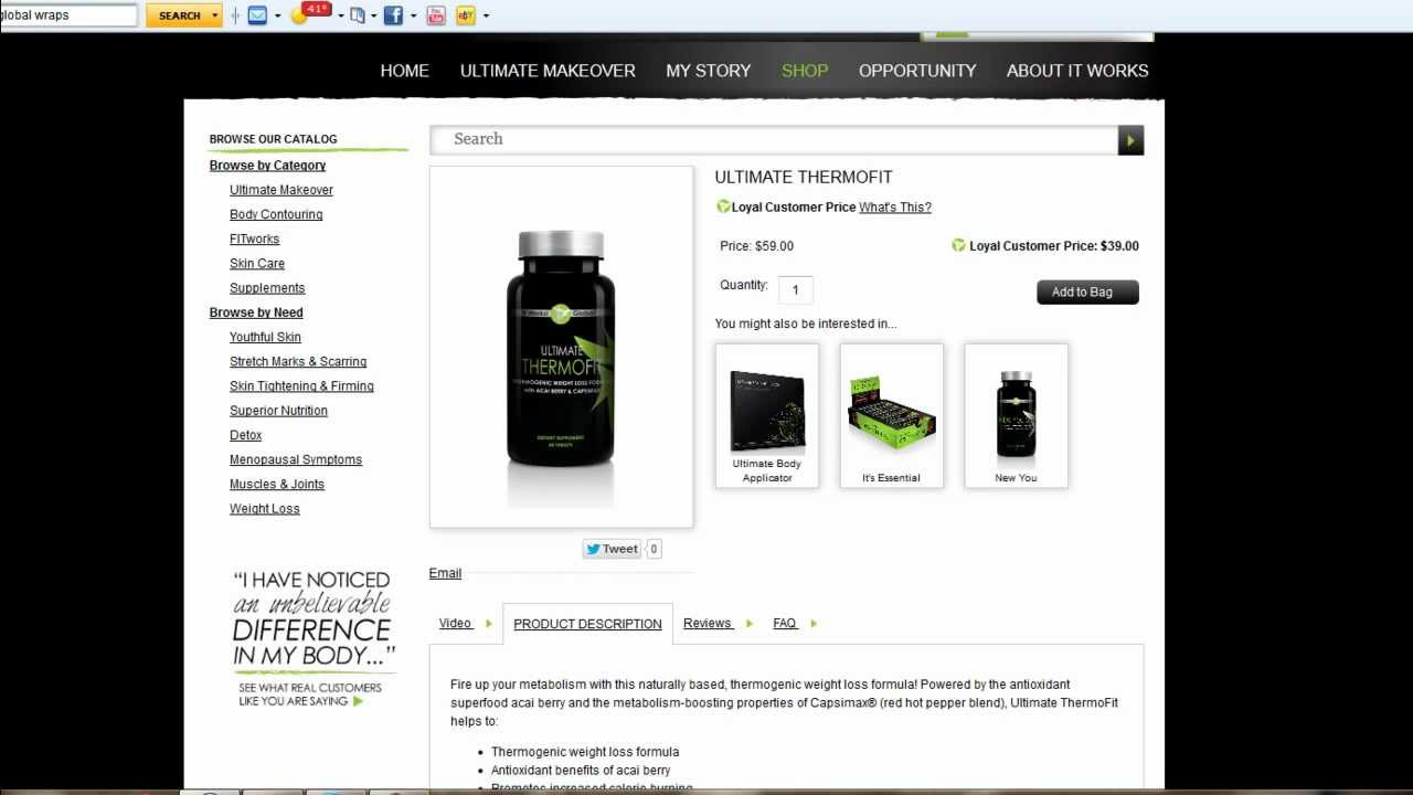 It Works Global Ultimate Thermofit Product Review