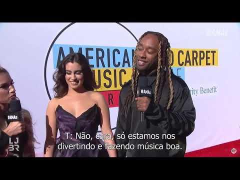 Lauren e Ty Dolla Sign em entrevista no tapete vemelho do AMAs 2018 legendado