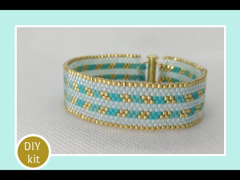 handmade-beaded-bracelet-/-diy-beading-kit-/-full-tutorial-including-pattern