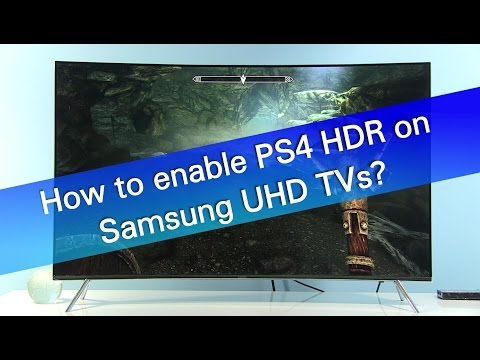 How to enable PS4 Pro 2160p RGB HDR support on Samsung UHD
