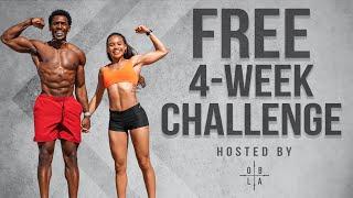 Juice & Toya FREE 4-Week Fit Challenge! [Bodyweight/Dumbbell Program]