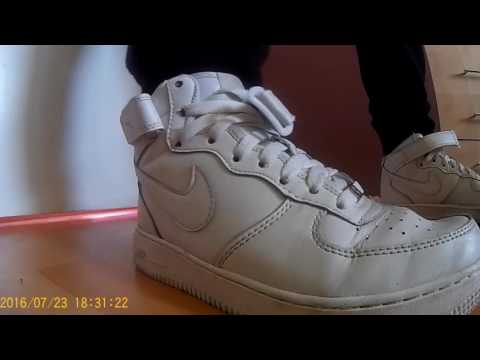 Smelly Nike Air Force teen boy shoeplay