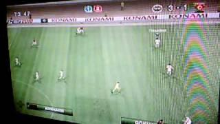 Pes 2010 - Fenerbahce vs Arsenal - En ligne - 3-1       - J'ai Gagné    PArt 2