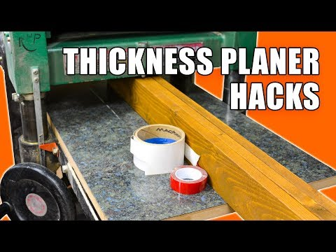 5 Quick Thickness Planer Hacks - Woodworking Tips and Tricks