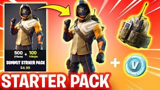 NEW FORTNITE STARTER PACK BUNDLE! - SUMMIT STRIKER SKIN (Fortnite Battle Royale)