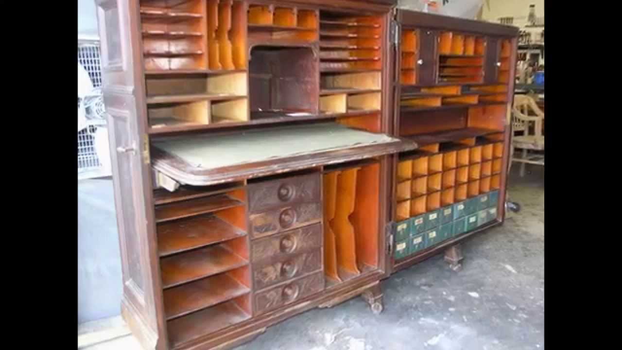 Restoration Antique CABINET DESK 1878 hand work,French Polish -Madadar  Naples FL - YouTube - Restoration Antique CABINET DESK 1878 Hand Work,French Polish
