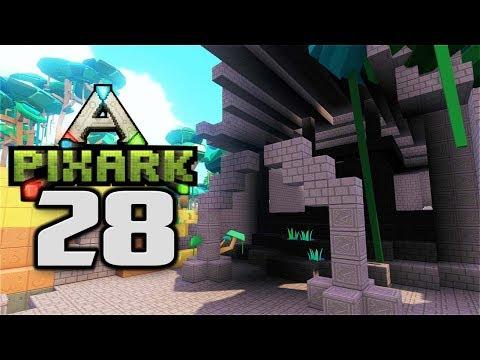 DUNGEON RAID! LOOTING RUINS!  - Let's Play PixARK Gameplay Part 28 (PixARK Pooping Evolved Ruins)