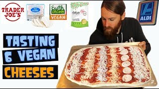Tasting 6 VEGAN Cheeses ( How do they Stretch Melt Taste)