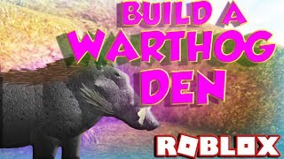 ROBLOX HOW TO BUILD A WARTHOG DEN (Random Game Slot Let's Play)