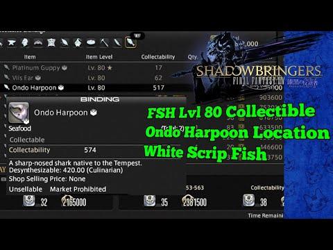 Ondo Harpoon Location White Scrip Collectible FSH FFXIV Shadowbringers