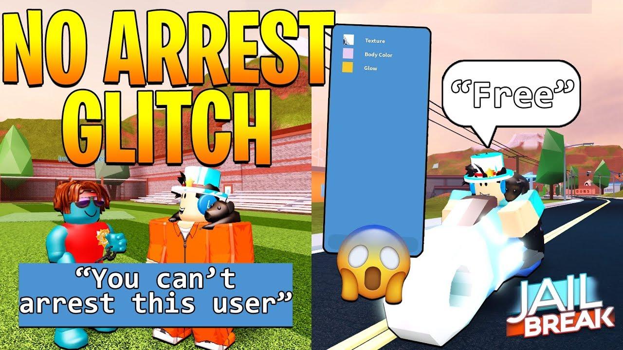 Jailbreak All New Glitches No Arrest Glitch Roblox Youtube