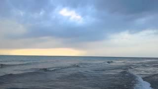 Beautiful Lake Michigan waves and clouds