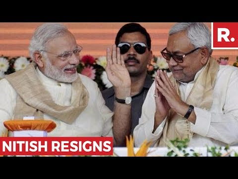 PM Modi Reacts To Nitish Kumar's Resignation