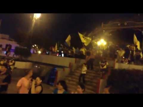 ¡América campeón!: Festejando en la plaza Principal de Reynosa Tamaulipas.