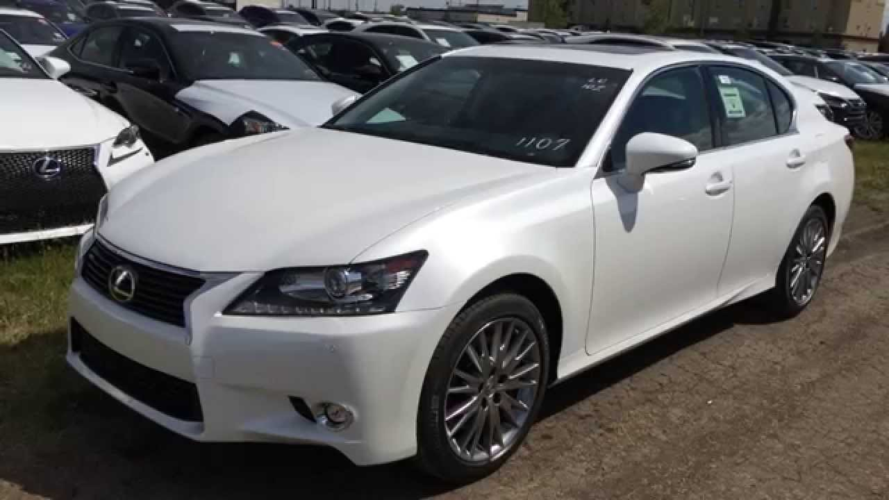 new white 2015 lexus gs 350 awd luxury package in depth review northeast edmonton youtube. Black Bedroom Furniture Sets. Home Design Ideas