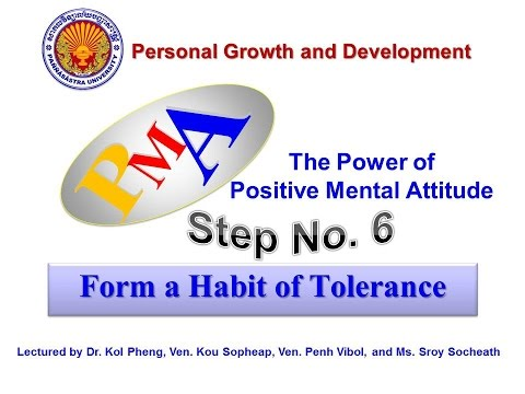 Step 6: Form a Habit of Tolerance PMA by Group 16