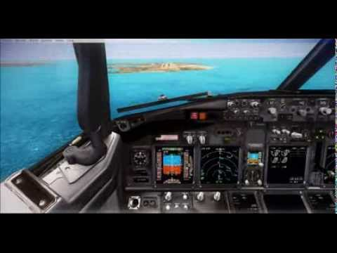 PMDG 737-800NGX test flight from Doha,Qatar to Bahrain intl USING ILS