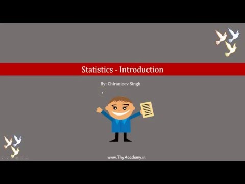 Statistics - Introduction - - CBSE - NCERT Class 9 Chapter 14 (in Hindi)