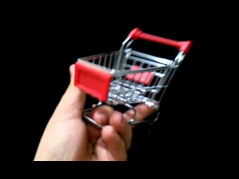 fbd8ac6a18 Mini Carrinho de Supermercado Vermelho - YouTube