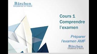MOOC Préparer l'examen AMF - Cours 1