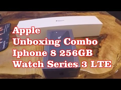 Apple  Unboxing Combo - Iphone 8 & Watch Series  3 LTE - Space Grey